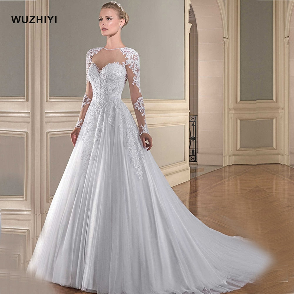 A-line Wedding Dress Long Sleeves