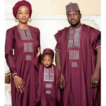 African Couple Dress Family