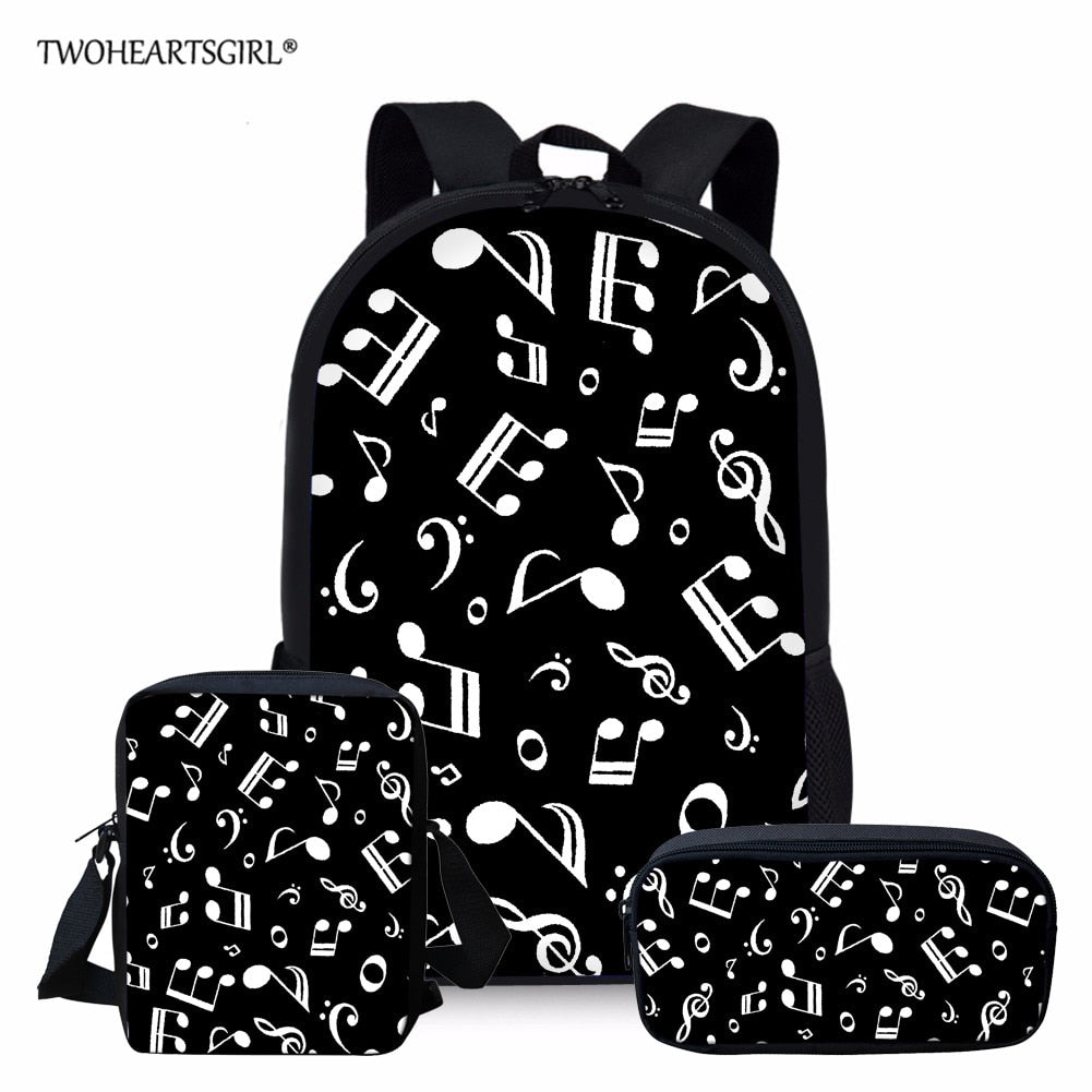 Two Hearts Girl School Bags