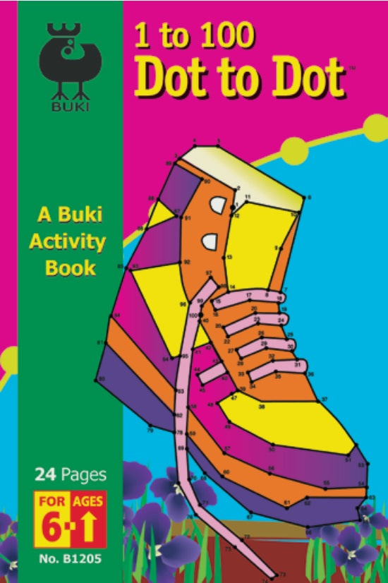 Buki Activity Book Dot to Dot Shoe