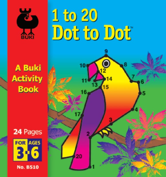 Buki Activity Book 1 to 20 Dot To Dot