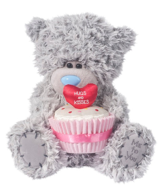 Douglas Cuddle Toys Valentines TATTY TEDDY With Red Heart
