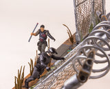 McFarlane Toys The Walking Dead AMC TV Series Prison Gate & Fence Building Set #14556 192 pcs