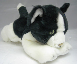 Russ Berrie Lying Black Chinchilla Cat