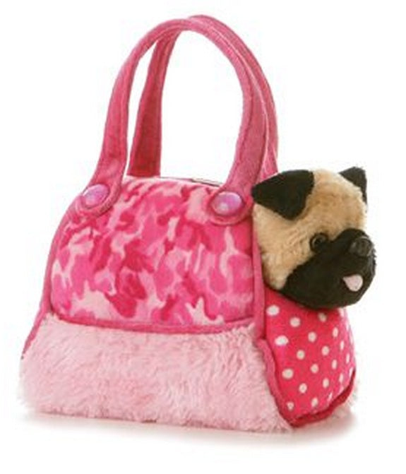 Aurora World Plush 8 Fancy Pals Fancy Pink Camo Pet Carrier