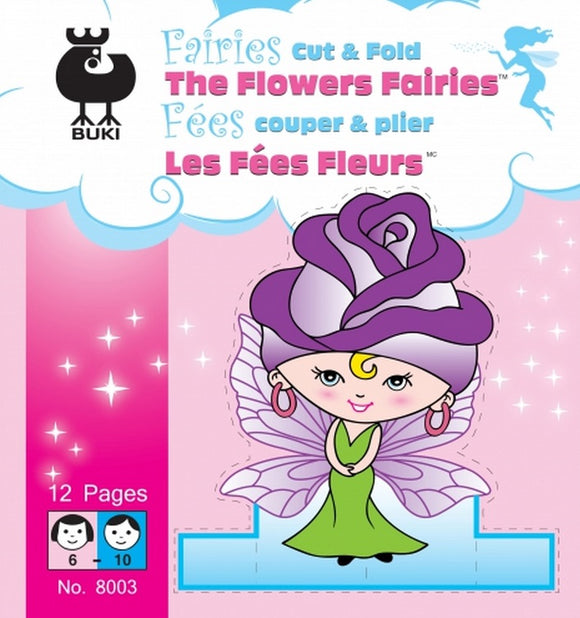 Buki Small Activity Book FAIRIES CUT & FOLD Flowers Fairies