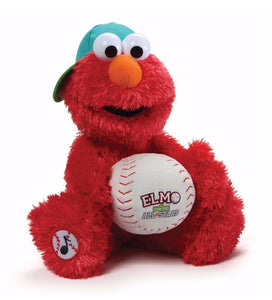 "Gund Sesame Street 13"" Animated ELMO BASEBALL PLAYER"