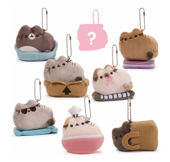 Gund Pusheen Blind Box Series #3 SURPRISE PLACES CATS SIT KEYCHAIN x 2