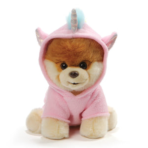 "Gund World's Cutest Dog Boo Plush Unicorn Outfit, 9"" , Pink"