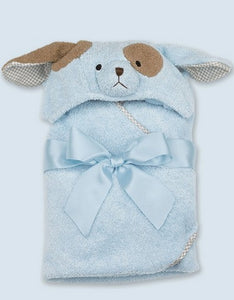 """Bearington Baby 24"""" WAGGLES Hooded Puppy Towel"""