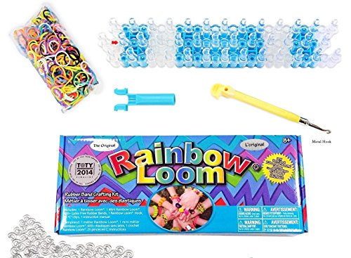 Rainbow Loom Bands Crafting Kit with Metal Hook