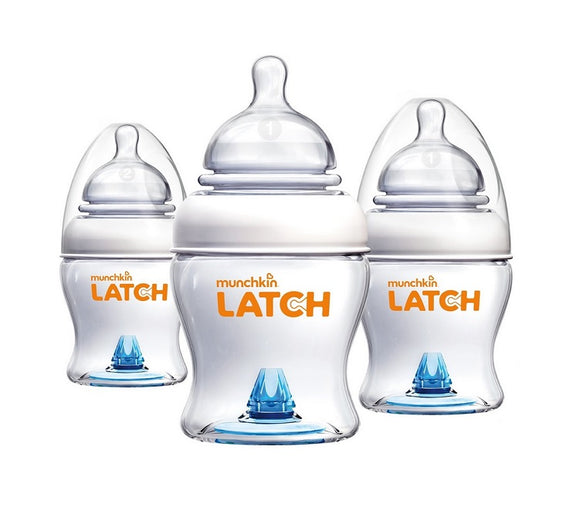 Munchkin Latch BPA-Free 4 Ounce Bottle, 3 Count
