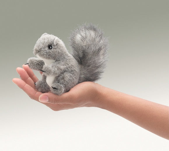 Folkmanis Puppets Plush MINI SQUIRREL Finger Puppet
