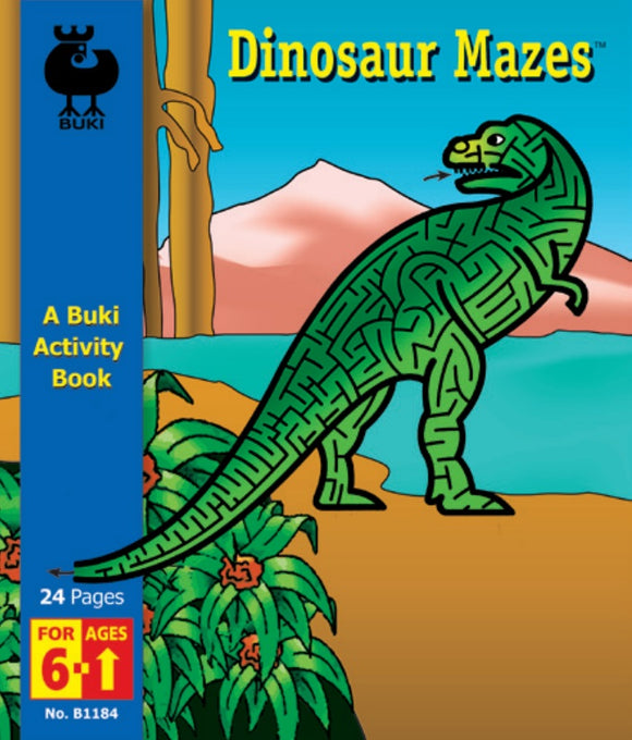 Buki Activity Book Dinosaur Mazes