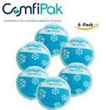 "ComfiPak Small Circle Pack Gel Bead Cold & Hot (6) Pack Multi-Purpose - 4.7"" X 4.7"""
