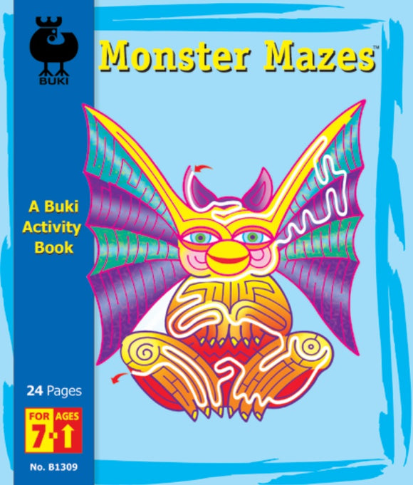 Buki Activity Book Monster Mazes