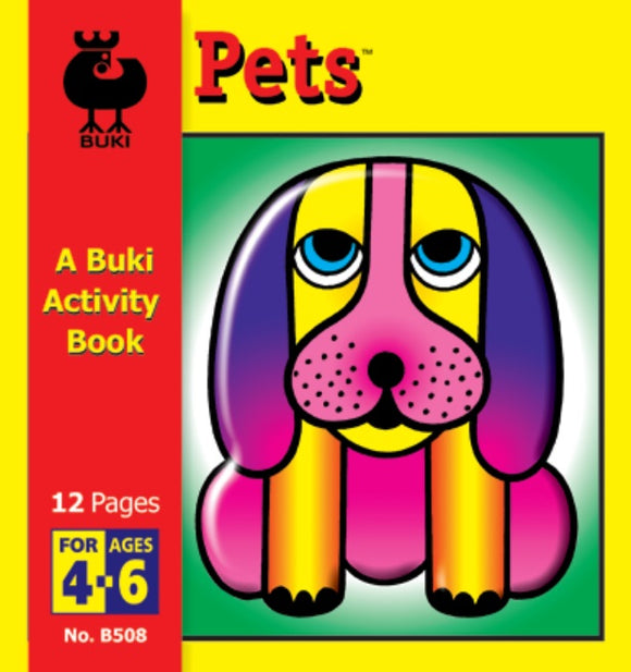Buki Activity Book Color & Cut Pets