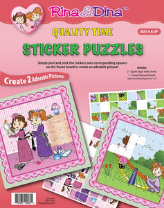 Rina & Dina QUALITY TIME STICKER PUZZLE (64 pc)