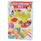 PLAY DOUGH ICE-CREAM SET (3 Colors of Play Dough Included)