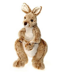 """Fiesta Toys Kangaroo with Baby Plush Toy 14"""" """
