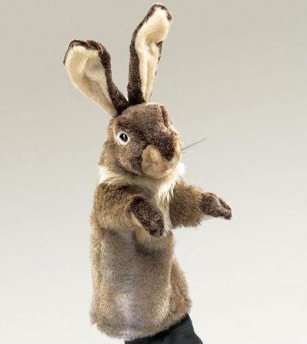 Folkmanis Puppets Plush Rabbit STAGE Hand Puppet