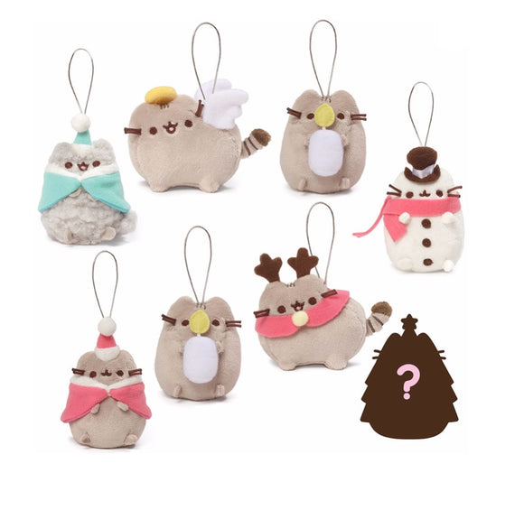 Gund Pusheen Blind Box Series #5 HOLIDAY CHEER ORNAMENTS x 4