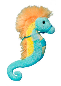 Douglas Cuddle Toys Turquoise & Yellow Sea Horse