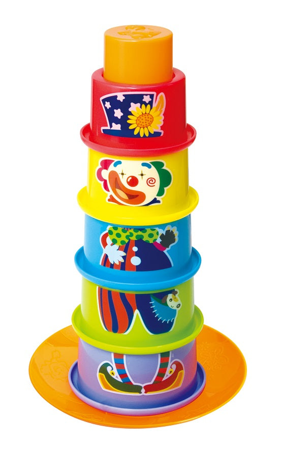 CLOWN 6 IN 1 STACK & SORT LEARNING CUPS