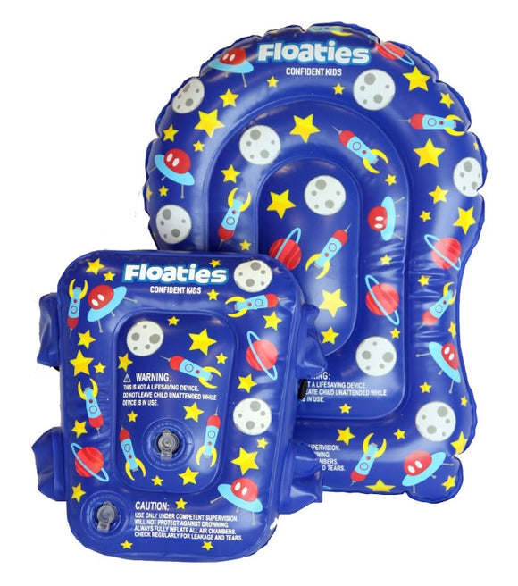 Floaties The Original Kicker and Bubble Set Blue Rockets