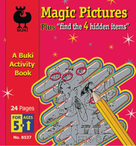 Buki Activity Book Buki-Magic Picture + Find the 4 Hidden Items