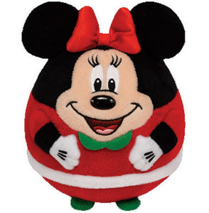 Ty Beanie Ballz Minnie - Mouse Christmas