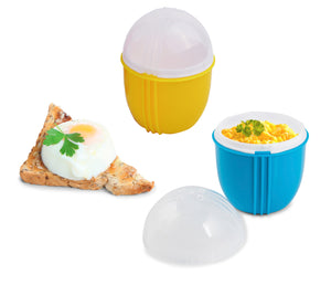 Zap Chef Crackin' Eggs Single Egg Cooker SET 2 Colors May Vary
