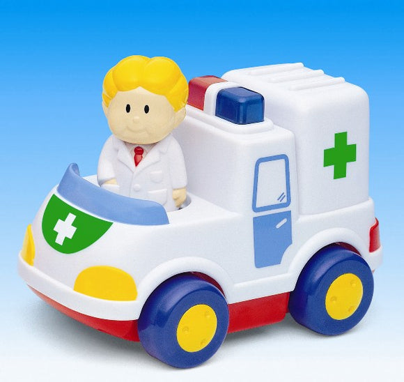 Megcos Toys Light and Sound Ambulance Vehicle ~NEW~