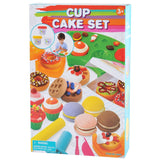 PLAY DOUGH CUP CAKE SET (3 Colors of Play Dough Included)