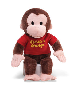 """Gund Curious George Red Shirt 12"" Plush"""