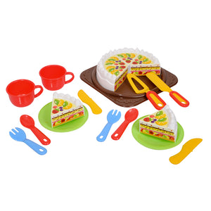 BIRTHDAY CAKE SET PLAY FOOD