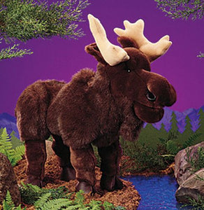 """Folkmanis Puppets Plush Moose 22"""" Hand Puppet """