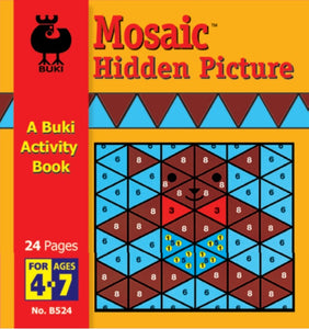 Buki Activity Book Mosaic Hidden Pictures