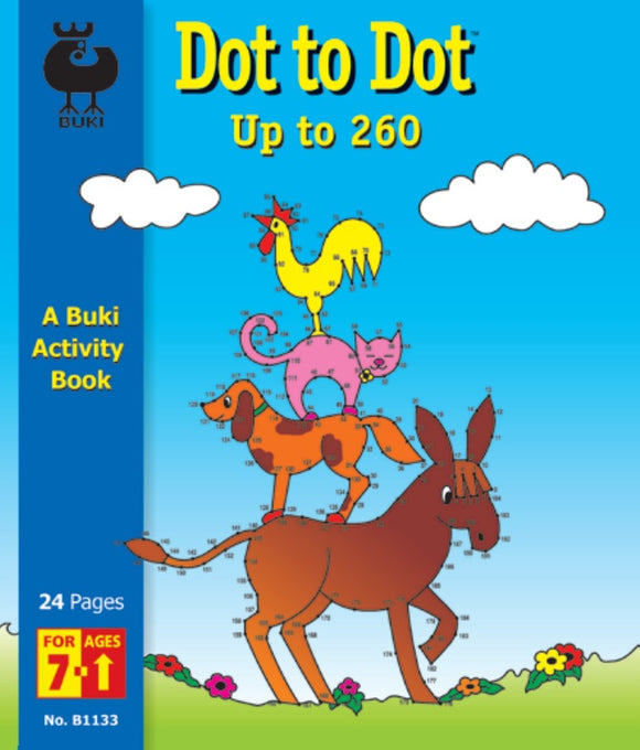 Buki Activity Book Dot to Dot Up to 260