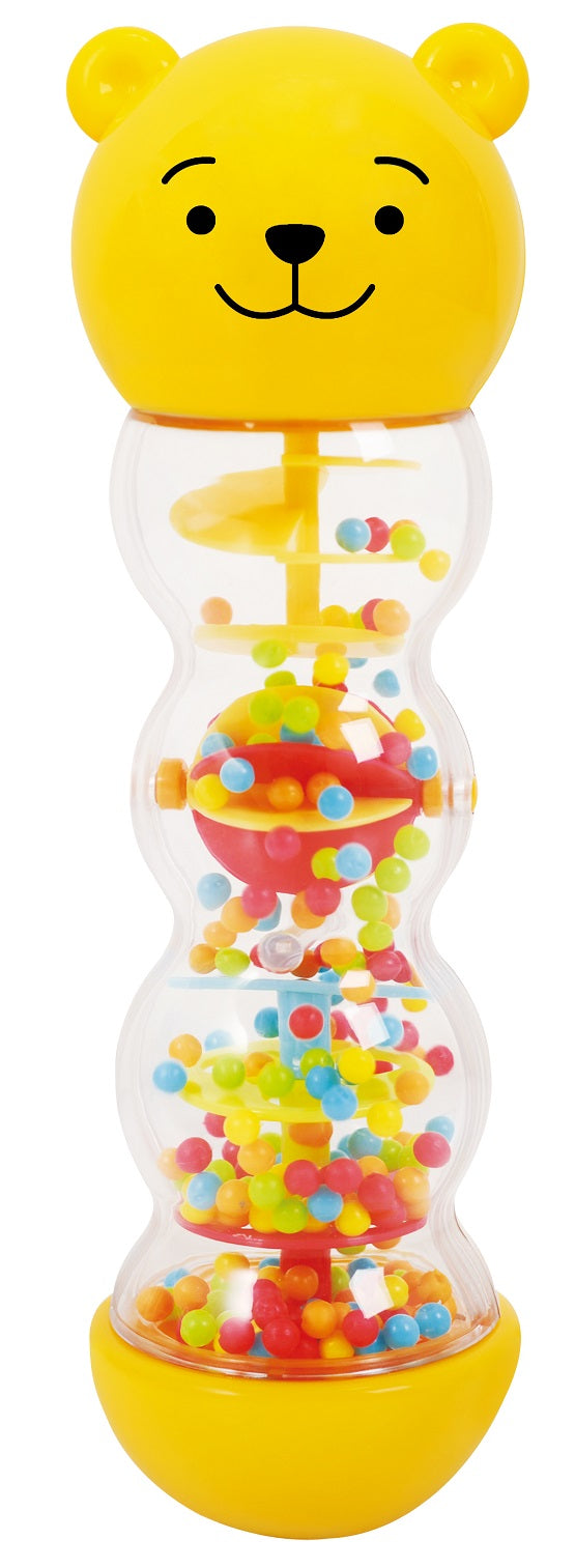 TEDDY BEAR RATTLE WITH BEADS