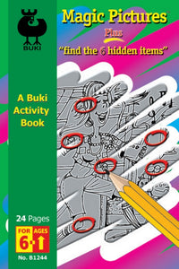 Buki Activity Book Magic Pictures & Find the 6 Hidden Items