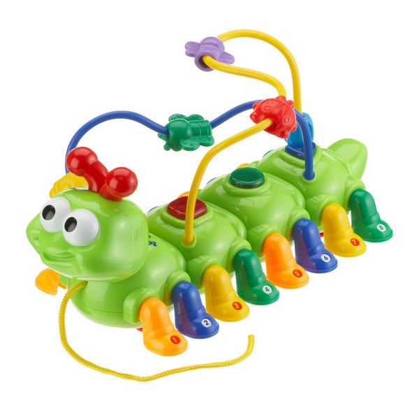 Megcos Toys Pull Along Musical Activity Caterpillar NEW