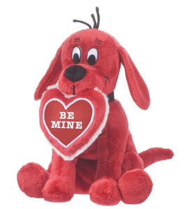 """Douglas Cuddle Toys  CLIFFORD THE BIG RED DOG, BE MINE HEART (Valentines)"""