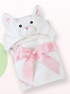 """Bearington Baby 24"""" PURRFECT KITTY Hooded Towel"""