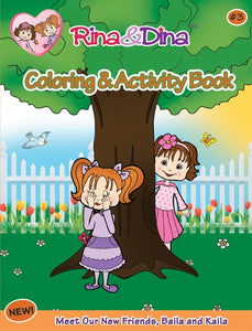 Rina &  Dina COLORING & ACTIVITY BOOK #3 (52 pages)