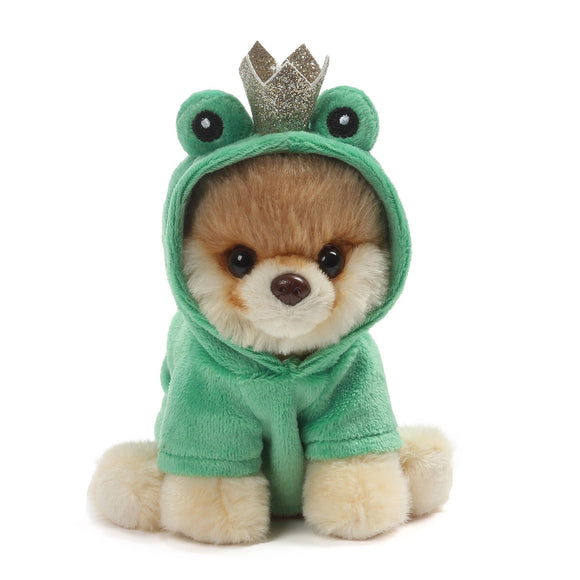 "Gund World's Cutest Dog Itty Bitty Boo #48 Frog Prince Plush, 5"" , Green"