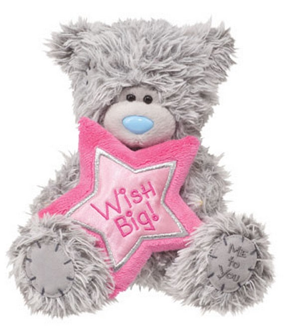 Douglas Cuddle Toys TATTY TEDDY Birthday Bear Pink Star