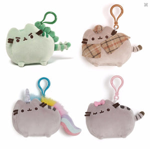 """Gund Pusheen the Cat Plush Clip-On Backpack Plush Set #2"""