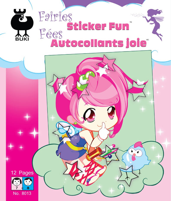 Buki Large Activity Book FAIRIES STICKER FUN