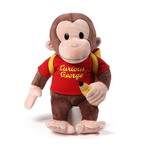 Gund Curious George Backpack Back to School Plush Toy Stuffed Toy